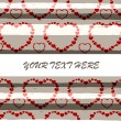 Royalty-Free Stock Vector Image: Strips and a lot of hearts