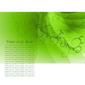 Sprigs of green background — Stockvektor