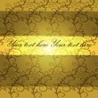 Background with curls on a gold background - Imagens vectoriais em stock