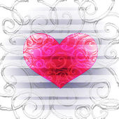 Background with multicolored hearts — Stock Vector