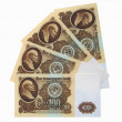 Banknotes of the USSR in 100 rubles. — Stock Photo