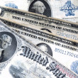 Old banknotes of the USA — Stock Photo