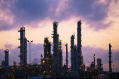 Oil Refinery at Dawn — Stock Photo