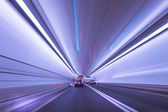 Motion Blur in a Tunnel — Stock Photo