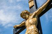 Jesus num crucifixo — Foto Stock