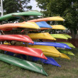 Colorful canoes — Stock Photo #10137367