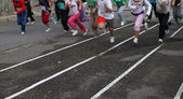 Crianças correndo — Foto Stock