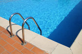 Border of pool and stair — Stock Photo