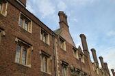 Fileira de casas inglesas características — Foto Stock