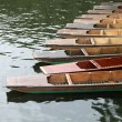 Punts in river Cam — Stock Photo