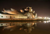 Guggenheim museum by night — Stock Photo