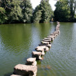Stock Photo: A row of stones