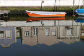 Boat in ria de Aveiro — Stock Photo