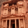 Stock Photo: Treasury in ancient city of Petra in Jordan