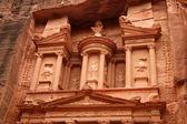 Tesouraria na antiga cidade de petra, na jordânia — Foto Stock