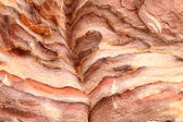 Sandstone gorge formation, Petra — Stock Photo