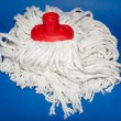 Stock Photo: A white mop