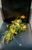 Abandoned bouquet of daisies — Stock Photo