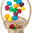 Flying Easter eggs — Stock Photo