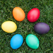 Easter eggs in sircle — Stock Photo #9872117