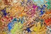 Multicolor pencil shavings background — Stock Photo