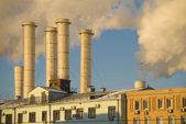 Fumare tubi industriali — Foto Stock