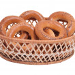 Bagels in the basket — Stock Photo