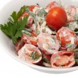 Salad from red tomatoes — Stock Photo