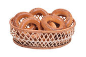 Bagels in the basket — Fotografia Stock