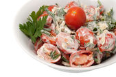 Salade de tomates rouges — Photo