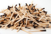 Heap of burnt matches — Stock Photo