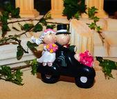 Wedding cake figurines — Stock Photo