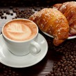 Brioches e cappuccino - Stock Photo