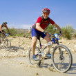 "Extreme-Bardenas; bike ride through the nature reserve of ""Bard — Stock Photo"