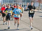 Maraton, fanlar çalışan — Stok fotoğraf