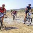 Royalty-Free Stock Photo: Extreme-Bardenas bike ride through the nature reserve of Bard