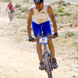 Extreme-Bardenas bike ride through the nature reserve of Bard — Stock Photo