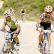 Extreme-Bardenas bike ride through the nature reserve Bardenas — Stock Photo