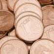 Stock Photo: One cent coins
