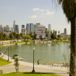 MacArthur Park and downtown, Los Angeles, Ca — Stock Photo