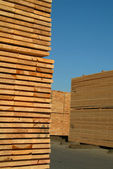 Stacks of lumber — Stock Photo