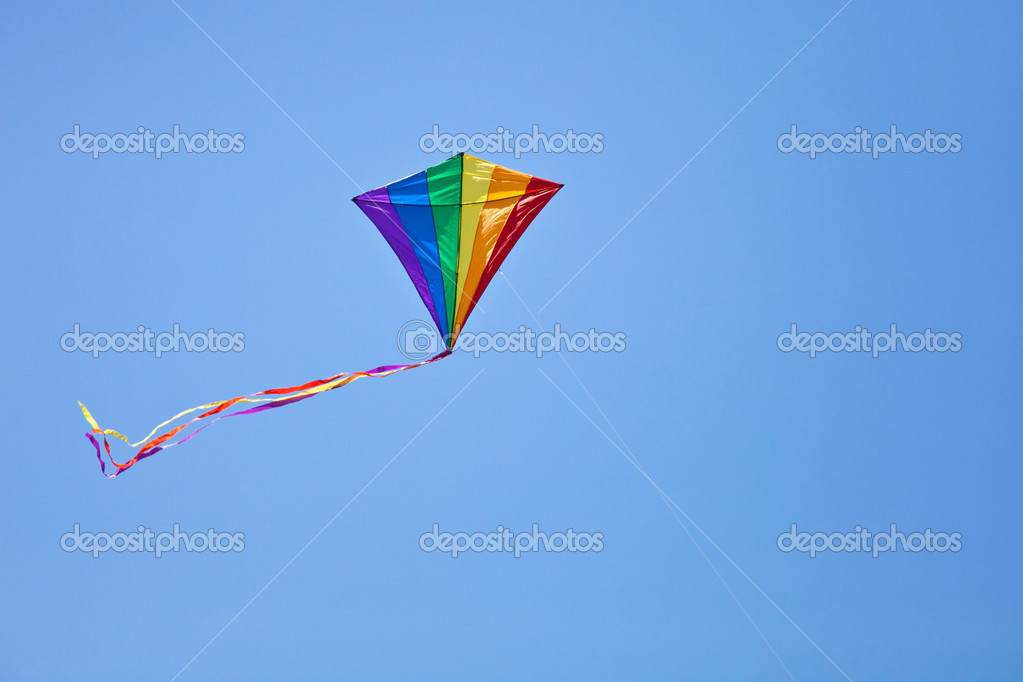 Colorful kite flying in the sky  Stock Photo #10117750