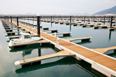 Jetty for mooring boats and yachts — Stock Photo
