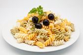 Plate of macaroni — Stock Photo