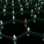 Sociaal netwerk — Stockfoto