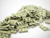Heap of money — Stock Photo