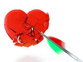 Corazón roto — Foto de Stock