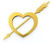 Srdce s šipkou — Stock fotografie