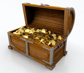 Truhla s pokladem — Stock fotografie