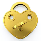 Golden padlock — Stock Photo